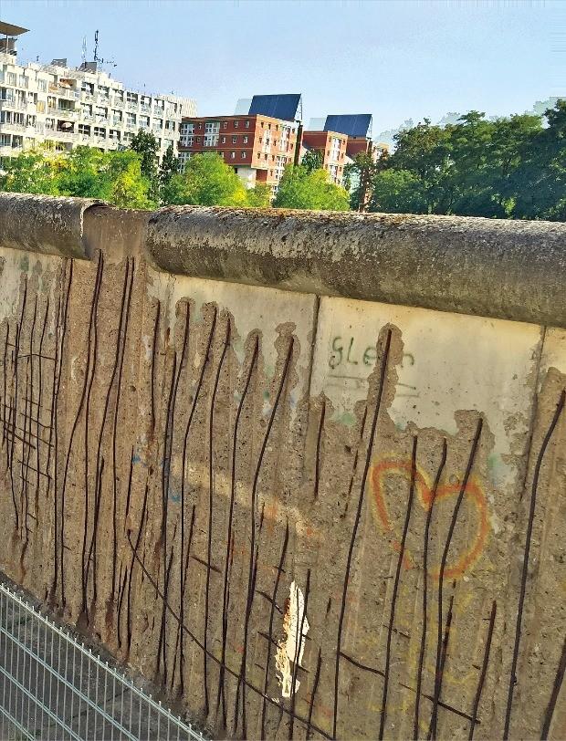 베를린 장벽의 흔적.