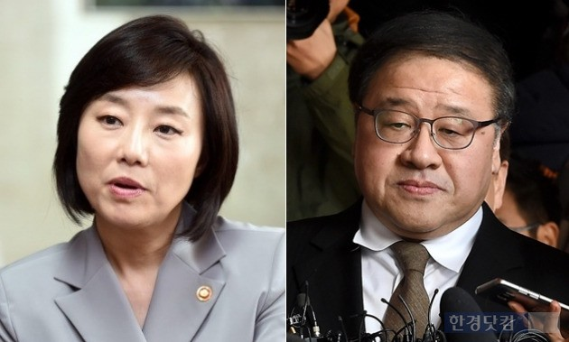 박근혜 대통령의 측근으로 꼽혀온 조윤선 장관(왼쪽)과 안종범 전 수석. / 최혁 기자, 한경 DB