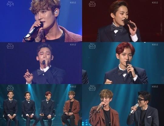 강타-엑소 '유희열의 스케치북'/사진=KBS2 예능프로그램 '유희열의 스케치북' 방송화면