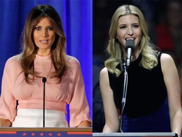 도널드 트럼프의 부인 멜라니아 트럼프(왼쪽)와 장녀 이반카 트럼프.