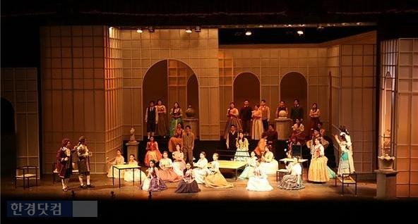 지난 11일 세종대 음악과가 공연 중인 오페라 '피가로의 결혼'. / 세종대 제공