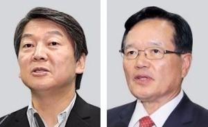 안철수 전 국민의당 대표(왼쪽), 정의화 전 국회의장
