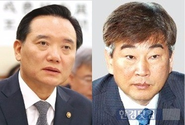 김현웅 법무부 장관(왼쪽)과 최재경 청와대 민정수석. / 사진=한경 DB