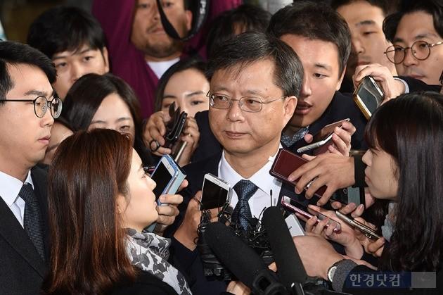 우병우 검찰 출석 / 최혁 기자