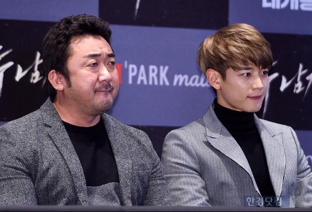 '두 남자' 마동석-최민호 / 사진 = 최혁 기자