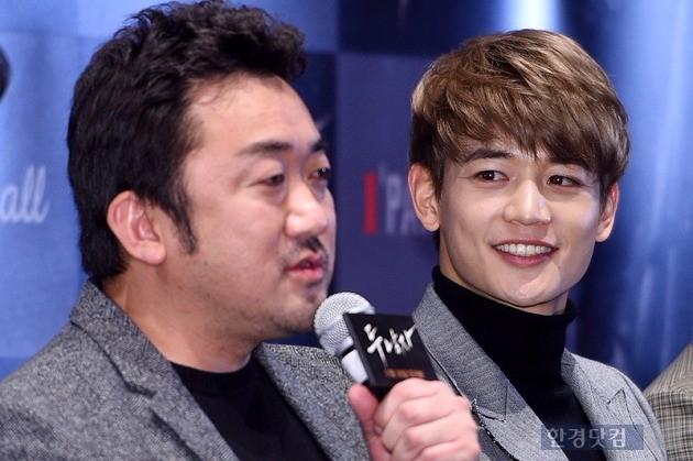 '두 남자' 마동석 최민호 / 사진 = 최혁 기자