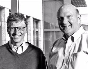 빌 게이츠(왼쪽)와 스티브 발머.