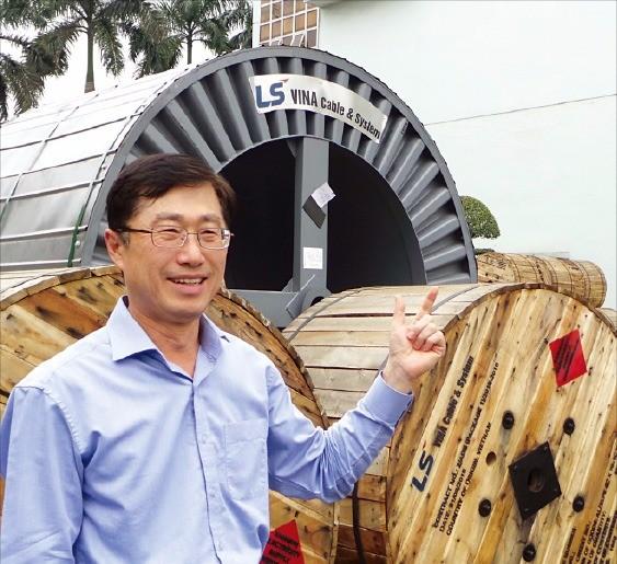 백인재 LS전선 하이퐁법인장이 향후 사업 계획을 설명하고 있다.   정지은  기자