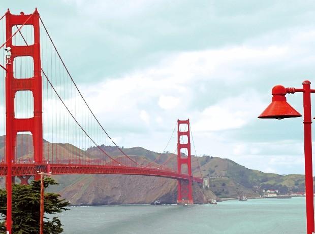샌프란시스코의 상징 골든게이트 브리지.