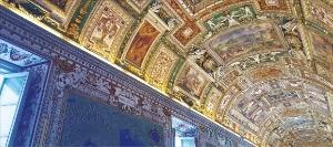 바티칸 박물관의 천장 벽화