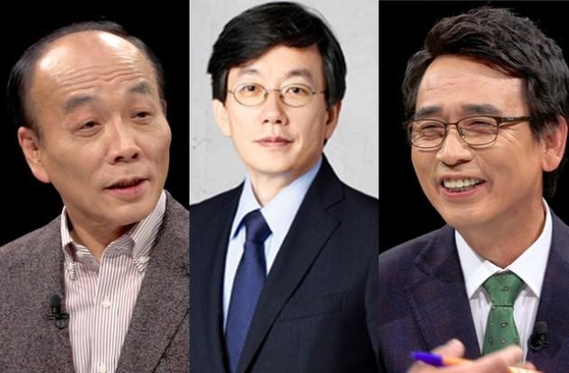 '썰전' 유시민 전원책, '뉴스룸' 손석희 /사진=JTBC