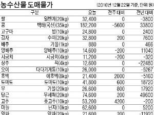 [농수산물 시세] 단감 가격, 한달 새 30% 올라