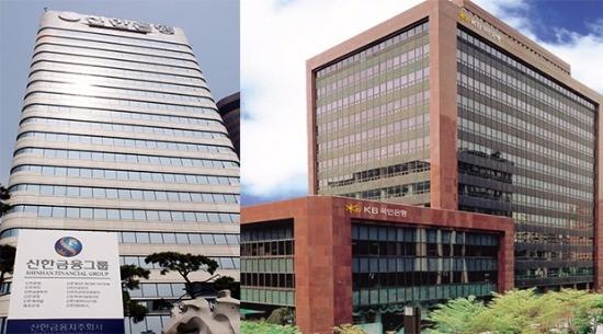(왼쪽부터) 신한지주 본사 KB금융지주 본사.