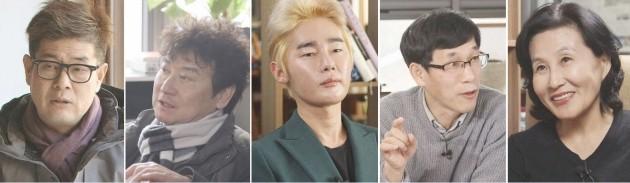 대선주자국민면접 패널(왼쪽부터 강신주 김진명 허지웅 진중권 전여옥)