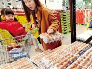 뚝뚝 떨어지는 계란값