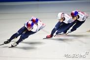 한국 남자 쇼트트랙, 5000m 계주서 銀