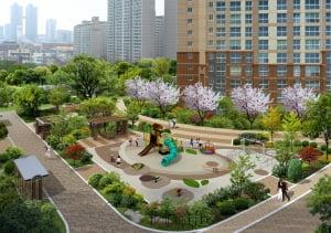 [고덕 동양 파라곤③구성]테마정원·중앙광장·잔디마당 '공원 같은 아파트'