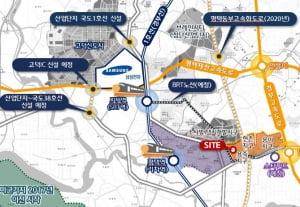 [비전 레이크 푸르지오②입지]SRT지제역·신세계 스타필드 한가운데