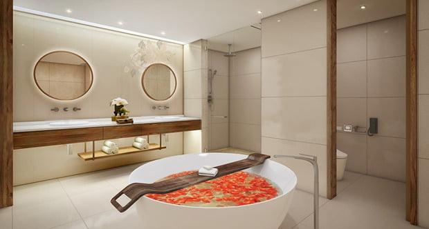 호텔레지던스 프리미어 스위트룸 욕실 이미지. (사진=제주드림타워 홈페이지)