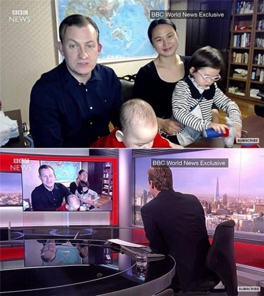 BBC 방송사고 영상 캡처