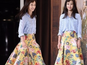 봄을 입고 등장한 정유미