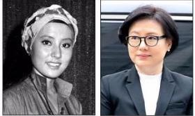 20일 서울중앙지법에 출석한 서미경 씨. 왼쪽은 1970년대 모습. 연합뉴스