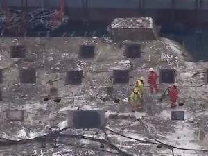 3년만에 모습 드러낸 세월호 (MBC 화면)