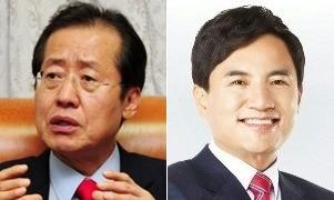 자유한국당 대선주자 홍준표 경남지사(왼쪽)와 김진태 의원. / 사진=한경 DB