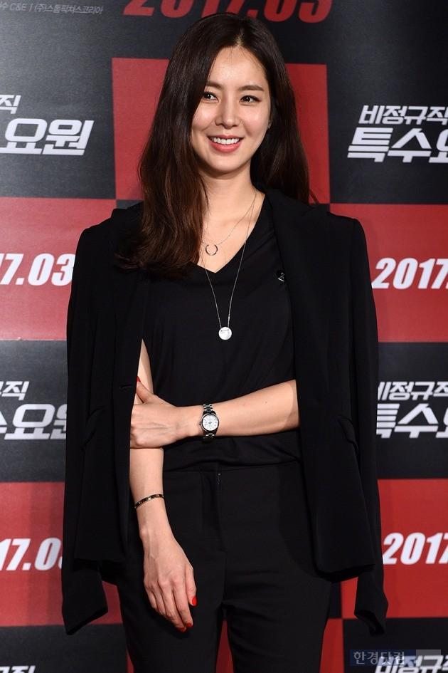 영화 '비정규직 특수요원' 제작보고회에 참석한 한채아, 사진 / 최혁 기자 chokob@hankyung.com