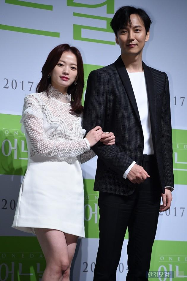 영화 '어느날' 제작보고회에 참석한 천우희(왼쪽부터), 김남길 사진 / 최혁 기자 chokob@hankyung.com