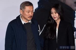 홍상수-김민희, 공식석상 나란히 등장 '다정한 에스코트'