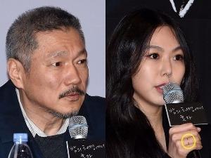 [PHOTOPIC] 홍상수-김민희, '당당한 불륜, 커플링 끼고 언론시사회 참석'