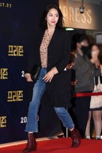 전혜빈, '힘차게 발걸음 옮기며'
