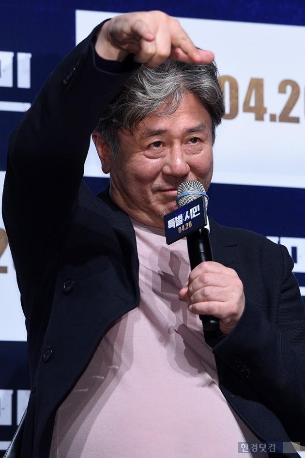 영화 '특별시민' 제작보고회에 참석한 최민식, 사진 / 최혁 기자 chokob@hankyung.com