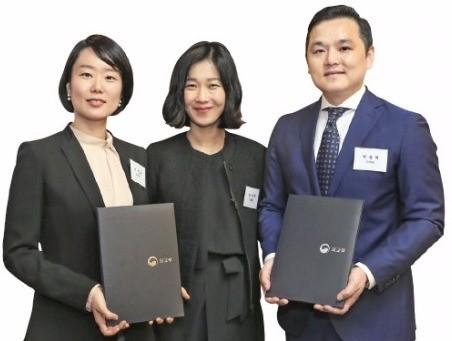 왼쪽부터 이한나, 정연주, 박동혁.