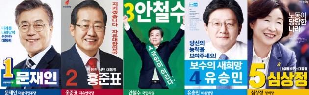 19대 대선 후보 포스터