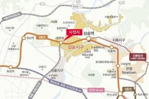 3호선 원흥역 출구 바로 앞 초역세권 단지