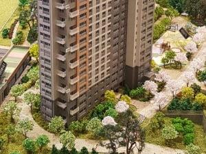 [호암지구 우미린 에듀시티④평면]도심 유일 중대형…119㎡ 전가구 테라스 설계