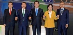 5당 대선후보, 다섯번째 TV토론 … 경제분야 공약 검증 '스탠딩 탈피'