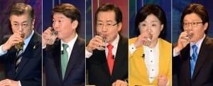 여론조사 공표 금지 전 마지막 대선토론 … 문재인 일정없이 TV토론 준비 '올인'