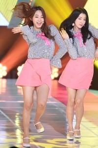 구구단 미나-하나, '아름다운 미모 대결'