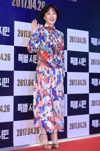 [HEI포토] 김혜은, '독특한 의상 입고~'