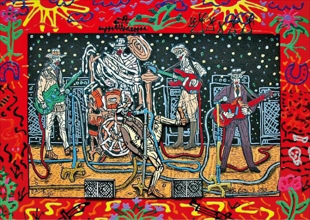 오는 12~16일 서울 삼성동 코엑스에서 열리는 제1회 서울국제예술박람회에 출품된 프랑스 화가 르베르 콩바스의 '컨트리 음악 오케스트라'.