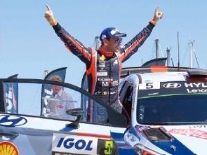 현대차, WRC 시즌 첫승…종합우승 향해 '힘찬 질주'
