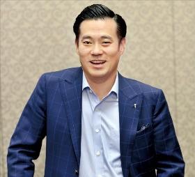 이한주 베스핀글로벌 대표가 클라우드 관리 서비스에 대해 설명하고 있다.