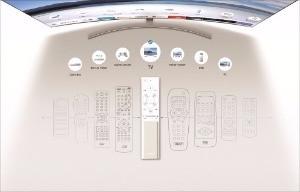 주변 기기가 늘어날 때마다 각각의 기기에 맞는 리모컨이 늘어나는 것도 옛날 이야기다. QLED TV의 리모컨은 '원 리모컨'을 구현한다.