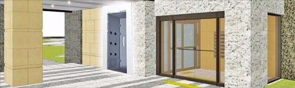 삼성물산이 선보인 공동주택용 에어 샤워룸 설치 모습.  삼성물산 제공