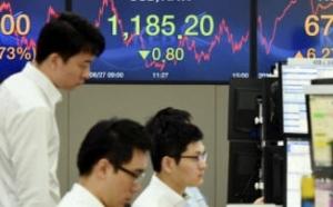 코스피, 투자위험 종목 늘어…한진해운·대선테마주 급등락 여파