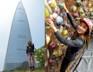 김자인, 빌더링 도전…20일 롯데월드타워 123층 맨손 등반