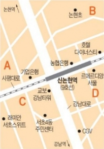 신논현역 사거리 인근 중소형 빌딩 실거래 사례 및 추천매물